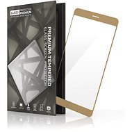 Tempered Glass Protector Framed for Samsung Galaxy J3 (2016) Gold - Glass protector