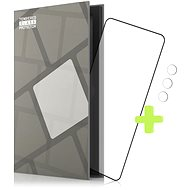 Tempered Glass Protector Frame for Samsung Galaxy S21+, Black + Camera Glass - Glass protector