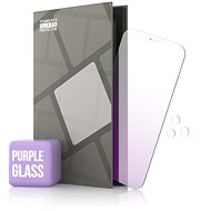 Tempered Glass Mirror Protector for iPhone 12/12 Pro, Purple + Camera Glass