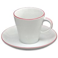 Thun Set of Cups and Saucers 260ml 6 pcs TOM I., Red Line - Cup & Saucer Set