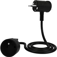Tinen Extension Cord with Innovative Plug 1m Black - Extension Cord
