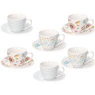 Tognana Iris Naif Coffee Cups, 6 pcs with Saucers - Coffee Cups