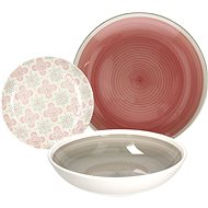 Tognana LOUISE MOSAICO ROSA Dining Set 18pcs - Set of plates