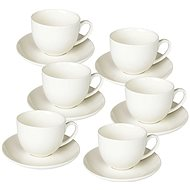 Tognana Set of Coffee Cups with Saucers, 85ml, PERLA BIANCO