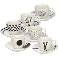 Tognana GRAPHIC Set of Espresso Cups with Saucers 80ml 6pcs - Cup & Saucer Set