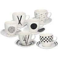 Tognana GRAPHIC Set of Tea Cups with Saucers 200ml 6pcs - Set