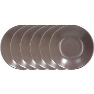 Tognana Set of Deep Plates 22cm FABRIC TORTORA 6pcs, Brown - Set of plates