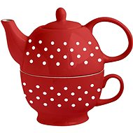 TORO 480ml with 320ml cup, white dots - Teapot