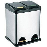 Toro Stainless-steel Rubbish Bin with Plastic Lid for 16 litres - Basket