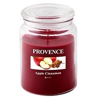 Provence Candle in Glass with Lid 510g, Apple + Cinnamon - Candle