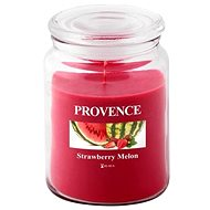 Provence Candle in Glass with Lid 510g, Strawberry + Melon - Candle
