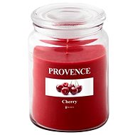 Provence Candle in Glass with Lid 510g, Cherry - Candle