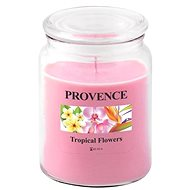 Toro Candle in Glass With Lid 510g, Tropical Flowers - Candle