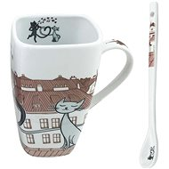 HOME ELEMENTS Porcelain mug Cats in the city 600ml