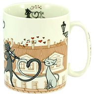 HOME ELEMENTS Porcelain Mug 750ml, Cats in the city