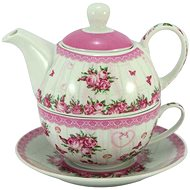 HOME ELEMENTS Tea Set for One, Rose - Set of Cups