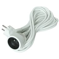 Solight Extension Cable, 1 socket, white, 5m. - Extension Cord