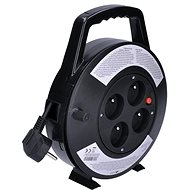 Solight Extension Reel, 4 sockets, black, 10m - Extension cables