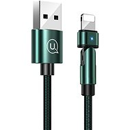 USAMS US-SJ476 U60 Lightning Rotatable Charging Cable 1m Green - Extension Cable
