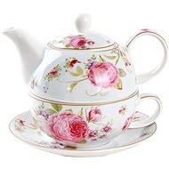 UTC Tea for One SWEET ROSES Porcelain Teapot with Cup - Teapot