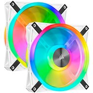 Corsair iCUE QL140 RGB, 140mm, White Dual Fan Kit - PC Fan