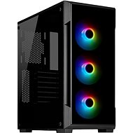Corsair iCUE 220T RGB Tempered Front Glass, Black - PC Case