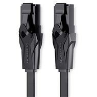 Vention Flat CAT6 UTP Patch Cord Cable, 15m, Black - Network Cable