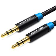 Vention Cotton Braided 3.5mm Jack Male to Male Audio Cable, 5m, Black, Metal Type - Audio Cable