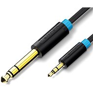 Vention 6.5mm Jack Male to 3.5mm Male Audio Cable, 1m, Black - Audio Cable