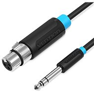 Vention 6.5mm Male to XLR Female Audio Cable, 1m, Black - Audio Cable
