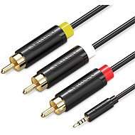 Vention 3.5mm Jack to 3x RCA AV Cable, 2m, Black - Audio Cable