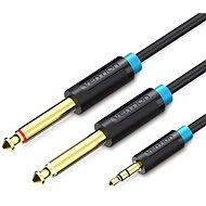 Vention 3.5mm Male to 2x 6.3mm Male Audio Cable, 1m, Black