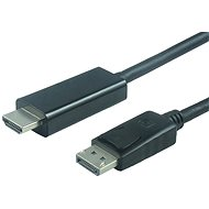 PremiumCord DisplayPort - HDMI Cable 2m Black - Video Cable