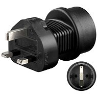 Travel Power Adapter Goobay UK/EU Plug Adapter Black - Cestovní adaptér