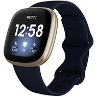 Fitbit Versa 3 - Midnight/Soft Gold Aluminium - Smartwatch