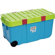Wham box with lid and wheels, 100l, blue 11883 - Storage Box