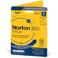 Symantec Norton 360 Deluxe 50GB CZ, 1 user, 5 devices, 12 months (electronic license) - Electronic license