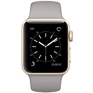 Apple Watch Series 1 38mm Gold aluminum with cement gray sports strap DEMO - Smartwatch