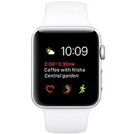Apple Watch Series 1 42mm Silver aluminum with white sport strap DEMO - Smartwatch