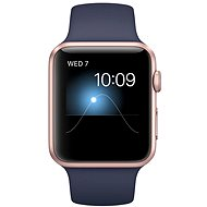 Apple Watch Series 1 42mm Pink gold aluminum with midnight blue sports strap DEMO - Smartwatch