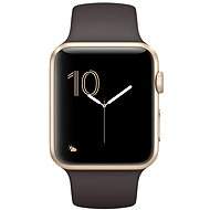 Apple Watch Series 1 42mm Gold aluminum with cocoa brown sport strap DEMO - Smartwatch