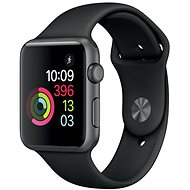 Apple Watch Series 1 42mm Space gray aluminum with black sports strap - Smartwatch