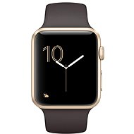 Apple Watch Series 2 42mm Gold aluminum with cocoa brown sport strap DEMO - Smartwatch