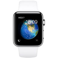 Apple Watch Series 2 42mm Stainless steel with white DEMO sports strap - Smartwatch