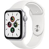 KB Apple Watch SE 40mm Silver Aluminium with White Sports Strap - Smartwatch
