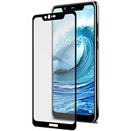CELLY Full Glass for Nokia 5.1 Plus Black - Glass protector
