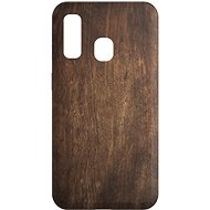 AlzaGuard - Samsung Galaxy A40 - Dark Wood - Mobile Case