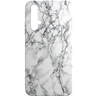 AlzaGuard - Honor 20/Huawei Nova 5T - White Marble - Mobile Case