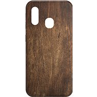 AlzaGuard - Samsung Galaxy A20e - Dark Wood - Mobile Case