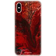iSaprio RedMarble 17 for iPhone XS - Mobile Case